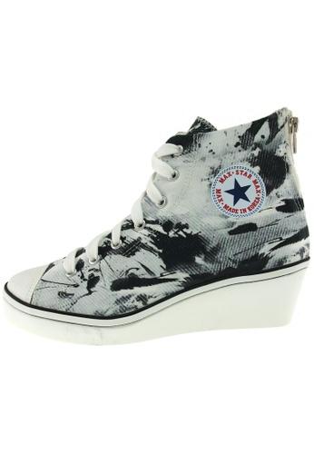 Maxstar Maxstar Women's N7H Zipper Canvas Low Wedge Heel Sneakers US Women Size MA168SH78BZHHK_1