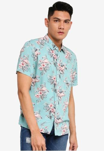 Brave Soul multi Short Sleeves Flamingo Shirt D6275AAFCBAA7EGS_1