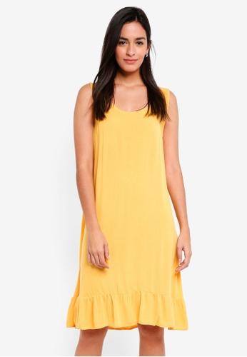 ICHI gold Marrakech Dress 209E0AA9A4DD30GS_1