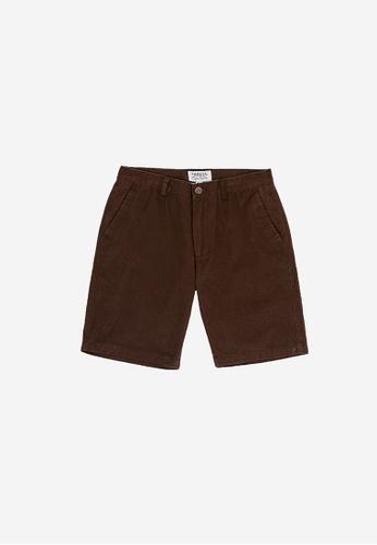 "FOREST brown Forest 19/20"" Full Print Bermuda Shorts Pants Men - Seluar Pendek Lelaki - 70527 - 10DkBrown 6C19FAA46775B2GS_1"