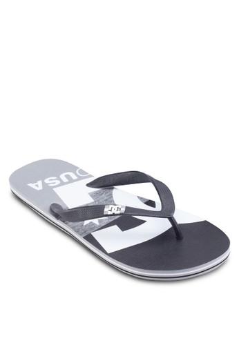 印花文字夾腳拖,esprit taiwan 鞋, 鞋