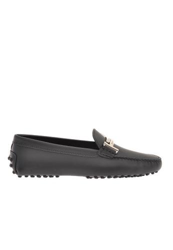 Tod's 黑色 Tod's/托德斯 GOMMINI 平跟豆豆鞋 082F2SH8370816GS_1