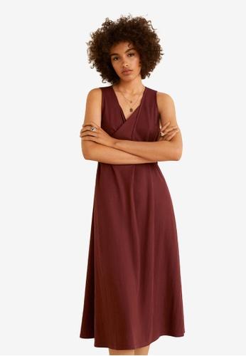 Mango orange Ribbons Long Dress B2E1CAA5915563GS_1