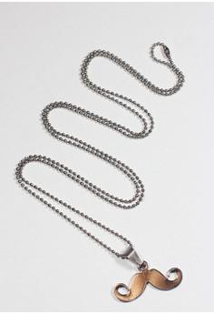 Mario Steel Moustache Men's Necklace