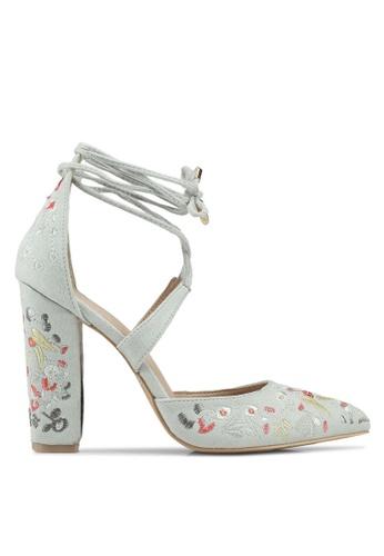 Glamorous 灰色 花卉高跟鞋 B126ESH2032632GS_1