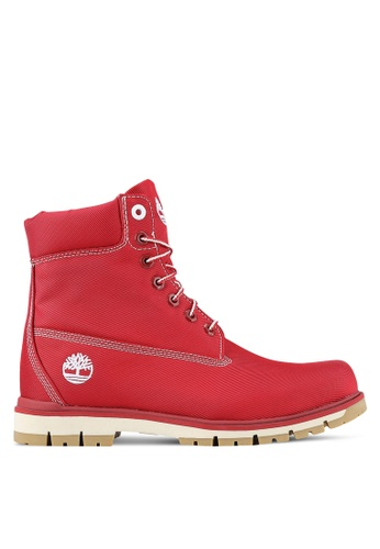 Timberland red Radford Canvas Boots TI063SH0RP72MY_1
