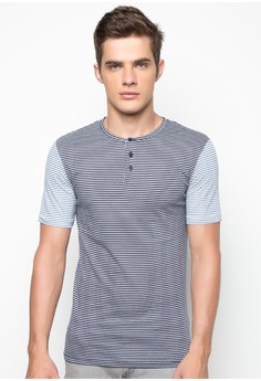 Grandad Contrast Sleeve Stripe