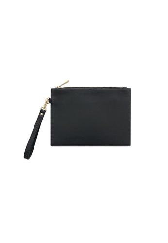 Knocks black Wristlet Clutch Bag Black 4DA80ACA1EDB2DGS_1