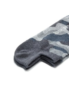 【ZALORA】 Home 迷彩紋精梳棉 輕薄型船型襪-93029-灰