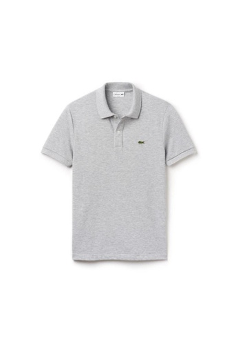 Lacoste silver Lacoste Men's Mini Pique Stretch Polo F422BAAA5FB288GS_1