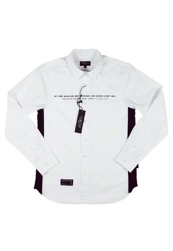 L.I.M.I.T.E white 3M Printed Shirt 7E2F7AA4FF03B6GS_1