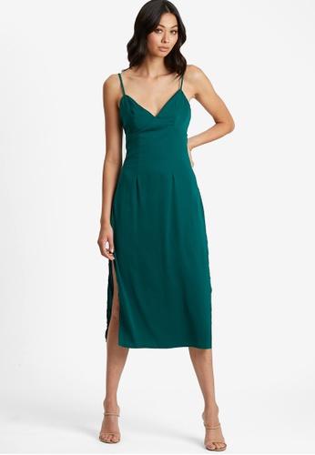 BWLDR green Laria Midi Dress 2CDEEAABE8DF58GS_1