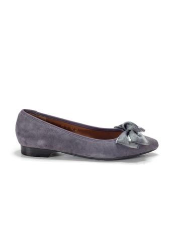Shu Talk 紫色 LeccaLecca 蝴蝶結尖頭平底鞋 35701SH7790F6EGS_1