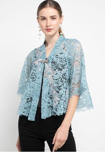 LUIRE by Raden Sirait blue Cape Kartini Pendek Semi Premium 01E05AA956878AGS_1