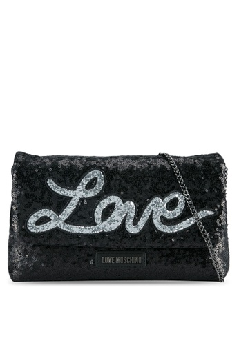 Love Moschino black Borsa Sequins Metallic Sling Bag LO478AC0SEJKMY_1