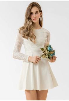 0adcbb728ac Eyescream white Lace Top Skater Dress 31286AA84791EFGS 1