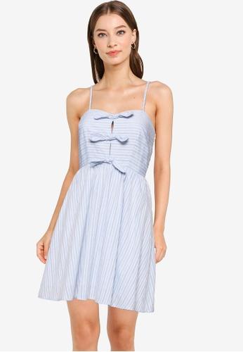 URBAN REVIVO blue Casual Dress A81E5AA8953B61GS_1