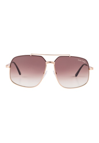 Tom Ford gold TOM FORD Ronnie Square Gold Sunglasses TF439 TO545AC16JGXMY_1