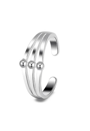 SC Tom Silver silver Horizontal Toe Ring SC872AC0JO23PH_1