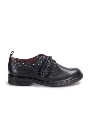 Shu Talk 黑色 LecccaLecca 牛軟皮型格皮鞋 247D4SH59DFBF9GS_1
