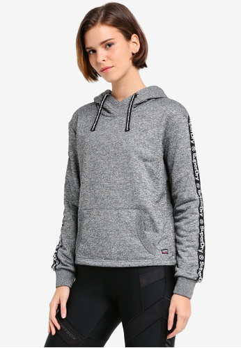 Superdry grey Fashion Fitness Crop Hoodie SU137AA0T1W1MY_1