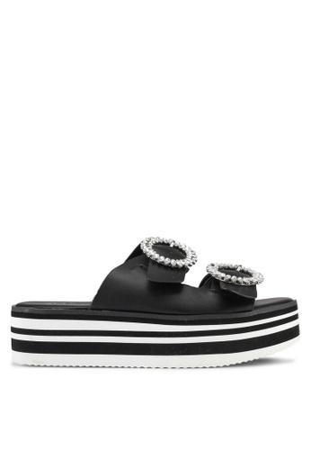 ALDO black Vydien Wedge Sandals 429EFSHD1233EDGS_1