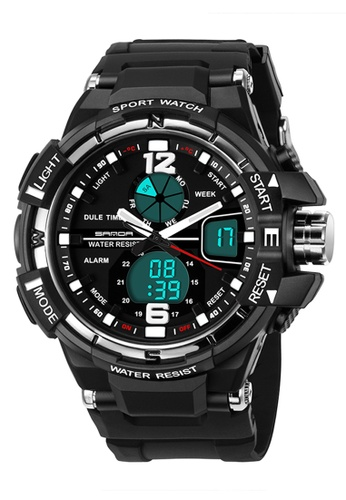 SANDA silver SANDA 289 Waterproof Outdoor Multifunctional Sports Men's Quality Shockproof Digital Watch (Silver) SA708AC0RXBGMY_1
