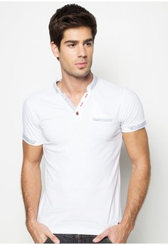 Boys Slim Fit Henley Tee with Pocket