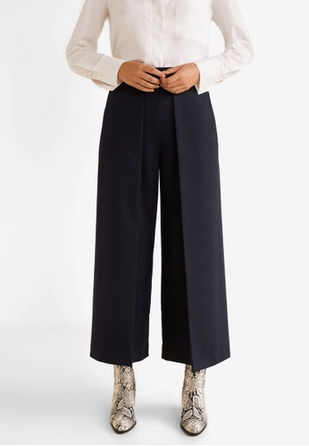 Mango blue High-Waist Palazzo Trousers C09FEAA1761564GS_1
