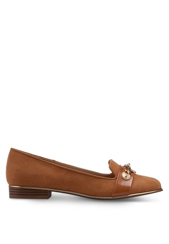 River Island brown Tan Chain Front Loafers 2952CSH22B00EAGS_1