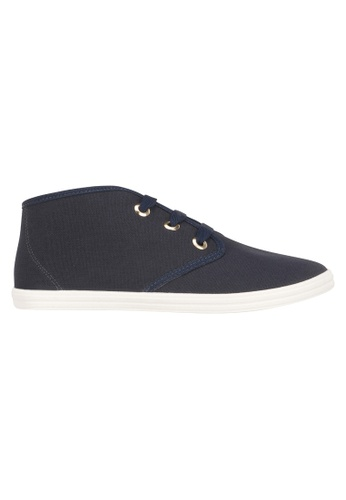 Beira Rio blue Solid Color Mid Cut Lace Up Sneaker BE995SH63ETCHK_1