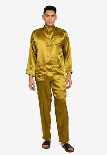 Gene Martino green Tradisional Baju Melayu 7DD26AA8762204GS_1