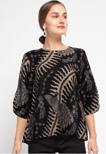 Rianty Batik black Blouse Leandra 5E09BAA0CC5390GS_1