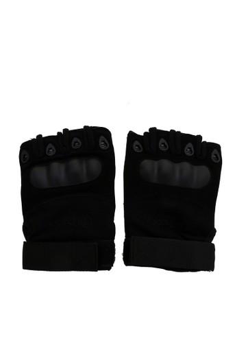 Hamlin black Hamlin Irroin Sarung Tangan Half Finger Anti Slip Size L Material Microfiber Leather ORIGINAL EDE75AC5763725GS_1