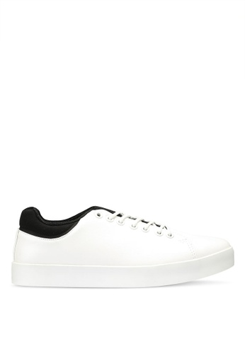 OVS white Textured-Effect Rubber Sneakers 7BE36SH37D16DAGS_1