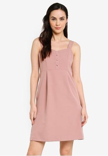 Heather pink Woven Mini Dress 095C6AA7712F88GS_1