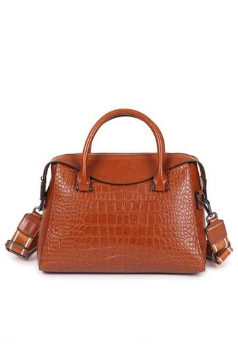 Twenty Eight Shoes brown VANSA Fashion Crocodile Leather Tote Bag VBW-Tb2116 C0151AC49761B3GS_1