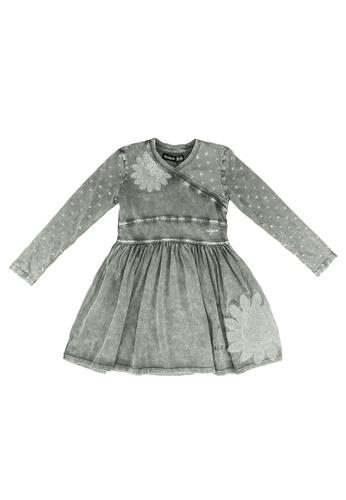 Desigual grey Long Sleeve Dress 8504EKA14CA235GS_1