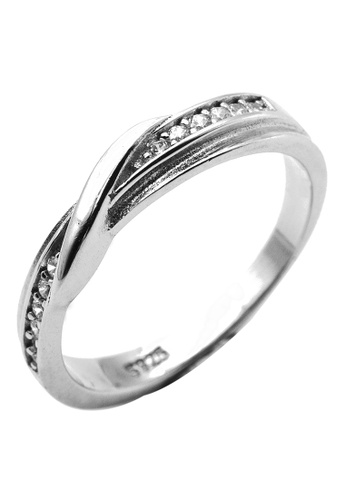 Elfi silver Elfi 925 Genuine Silver Engagement Ring T35 - The Faithful Bond EL186AC0SDMDMY_1