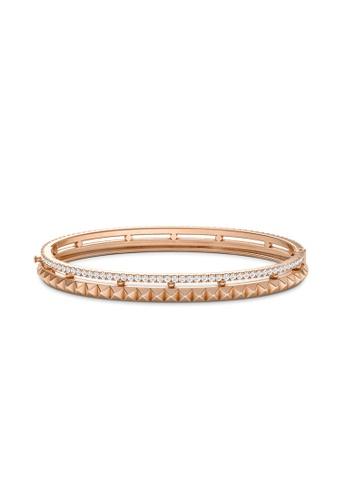 Aquae Jewels pink Bangle Rich & Bold Peaks 18K Gold - Rose Gold E2276ACFF2AEB9GS_1