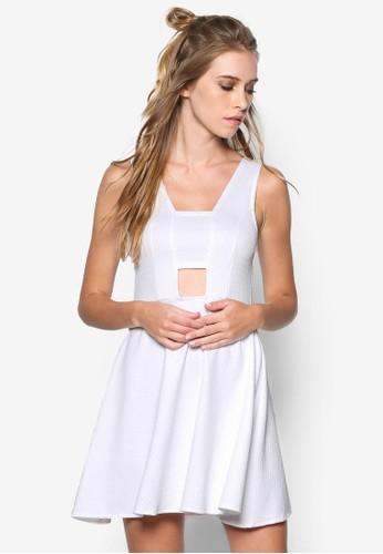 Textured Cut-out Dress, 服飾,zalora 台灣門市 洋裝