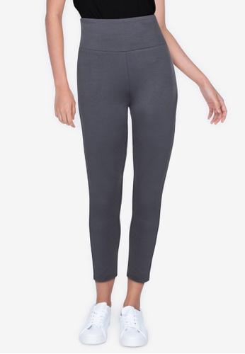 ZALORA BASICS grey High Waist Legging Pants E2807AA40718A8GS_1