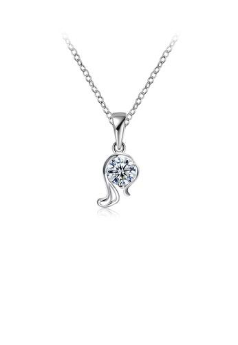 Glamorousky white Simple and Fashion Twelve Constellation Virgo Cubic Zircon Necklace 09778AC3B9C87EGS_1