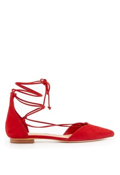 Schutz Sara Pointed Toe Lace-Up