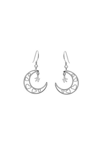 LYCKA silver LDR1281 S925 Silver Classy Crescent Drop Earrings D05BBACEECF53FGS_1