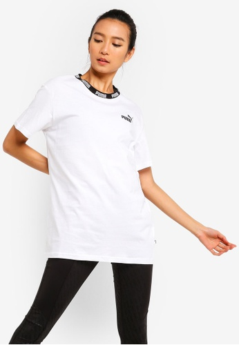 Puma white Sportstyle Core Amplified Boyfriend Tee 9998AAA97A718FGS_1