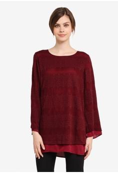 TOPGIRL red Premium Lace Blouse TO597AA0SJPWMY_1