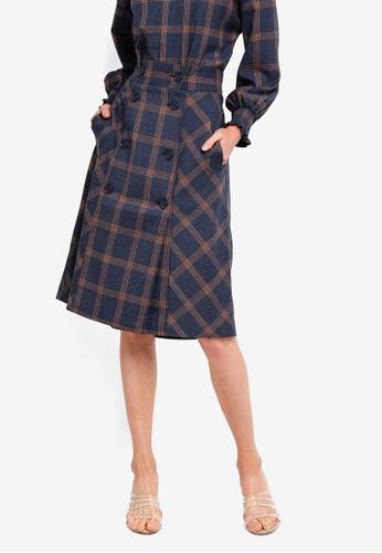 ESPRIT blue Woven Midi Skirt FC0CFAA6F8E872GS_1
