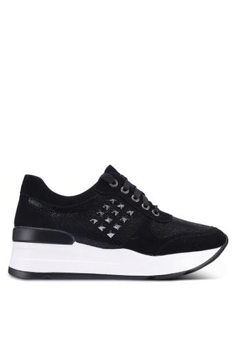 Noveni 黑色 金屬感運動鞋 0C9E5SHF2801B6GS_1
