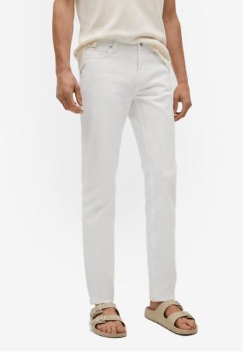 MANGO Man white Slim Fit White Jan Jeans 63D3EAAF08B663GS_1